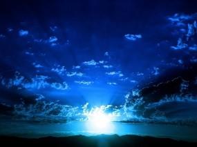 Обои Синее небо: Облака, Солнце, Небо, Синий, Прочие пейзажи