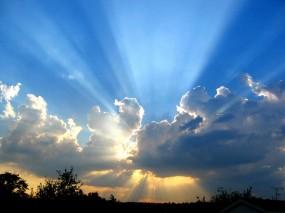 Обои Чистое небо: Свет, Природа, Солнце, Закат, Прочие пейзажи
