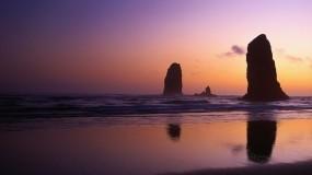 Обои Скалы у берега: Океан, Вечер, Скалы, Берег, Прочие пейзажи