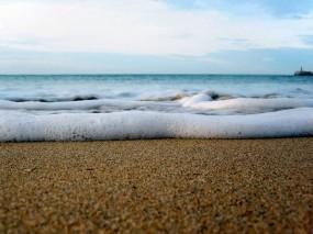 Обои Морская пена: Свобода, Волны, Песок, Море, Небо, Пена, Вода и небо