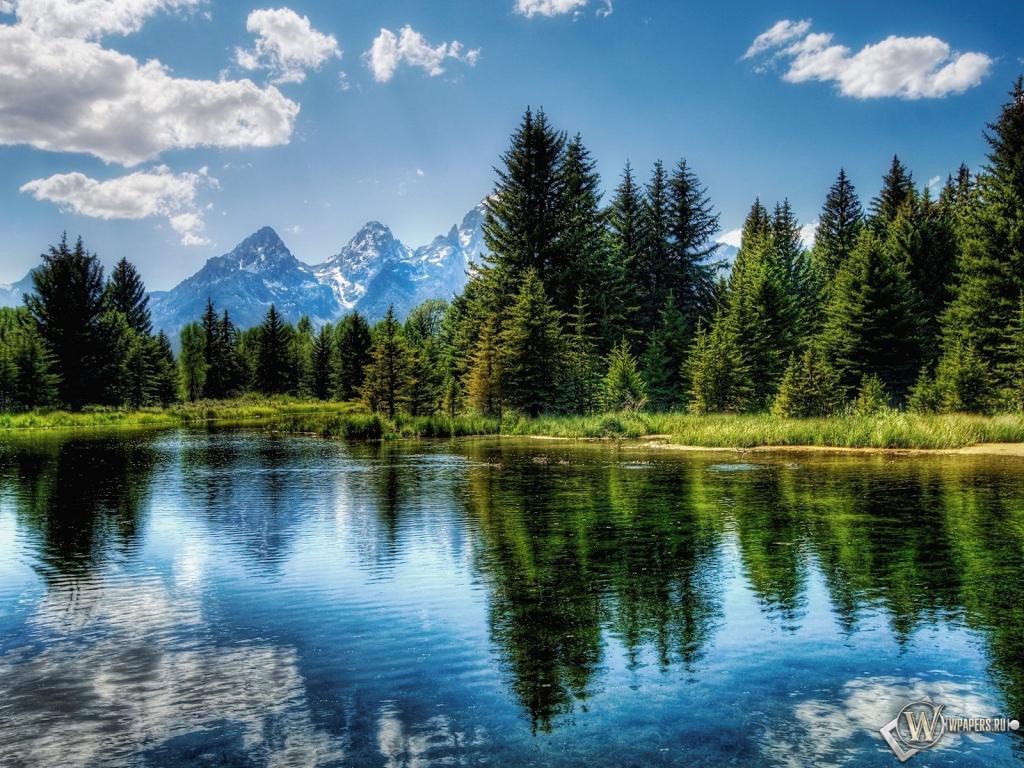 Обои красивое озеро на рабочий стол с