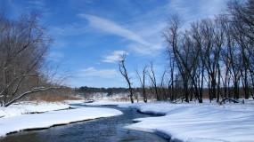 Обои Весна: Река, Снег, Природа, Небо, Весна, Прочие пейзажи