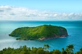 Обои Остров в океане: Зелень, Океан, Рай, Остров, Прочие пейзажи