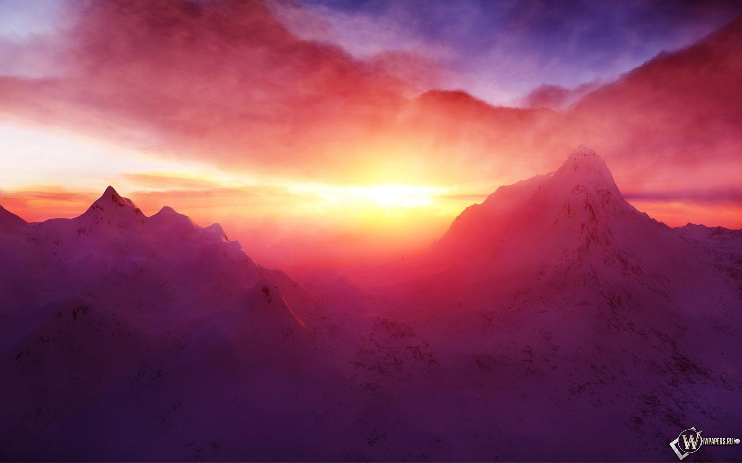 Рассвет на горе 2560x1600