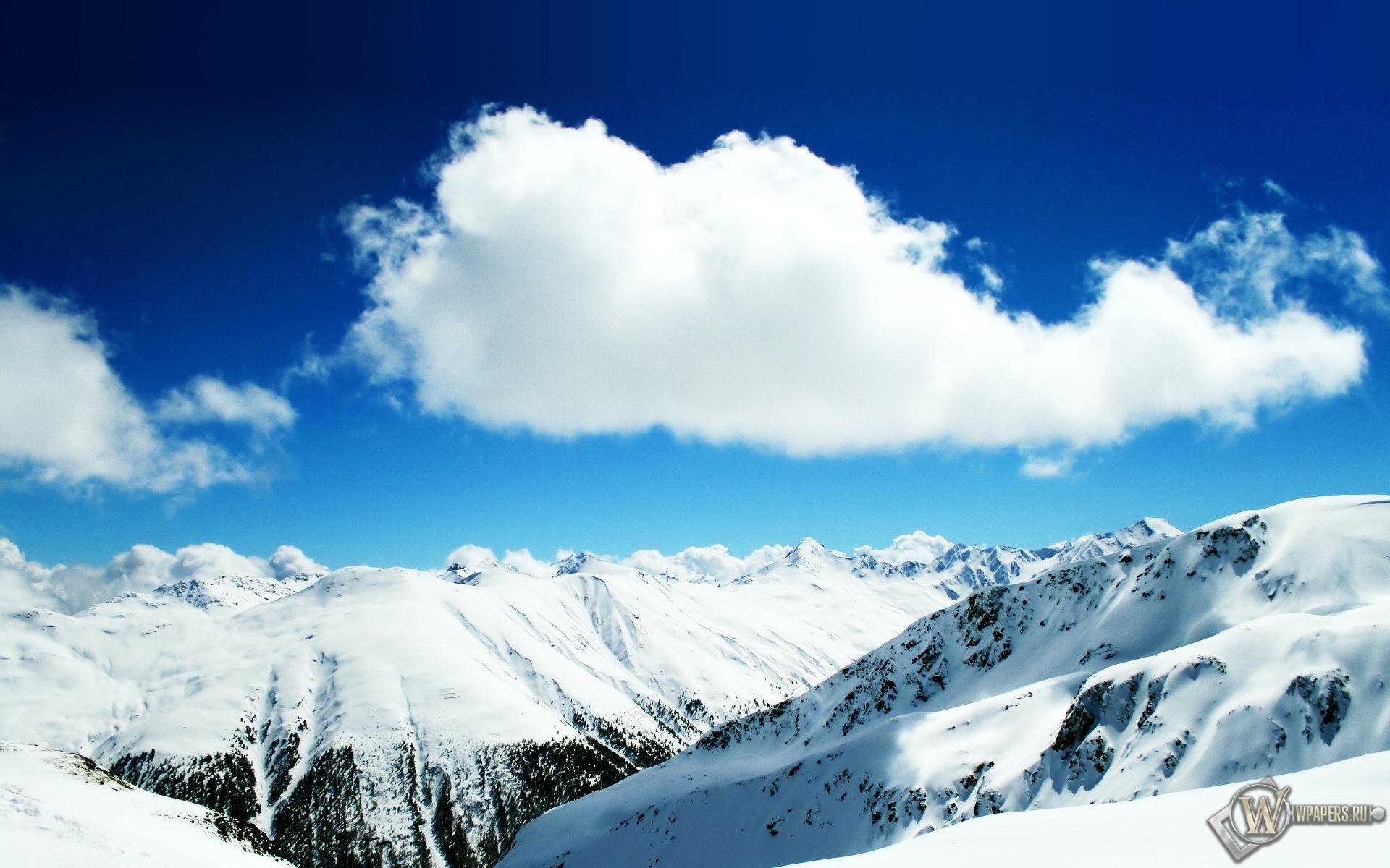 Белые облака 1920x1200