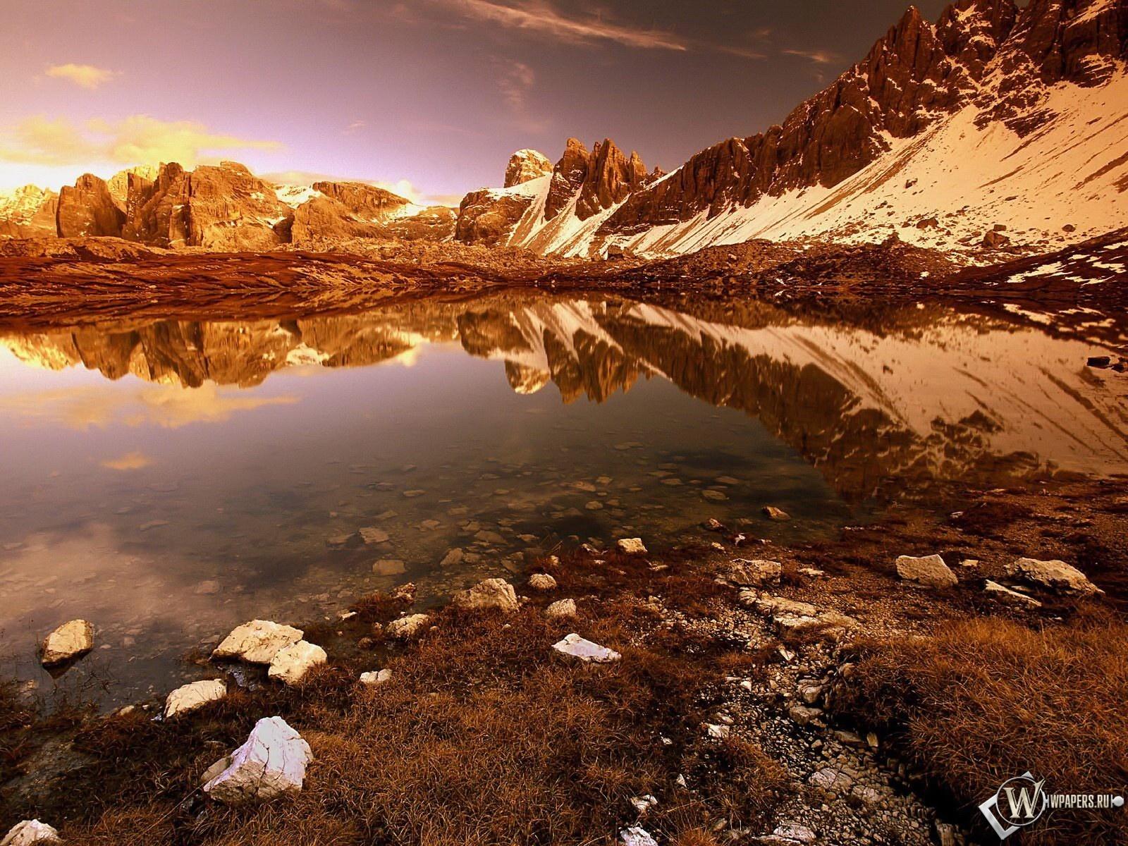 Закат в горах 1600x1200