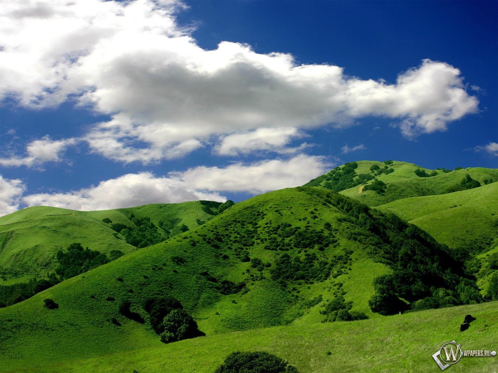 Зелёные горы 1600x1200