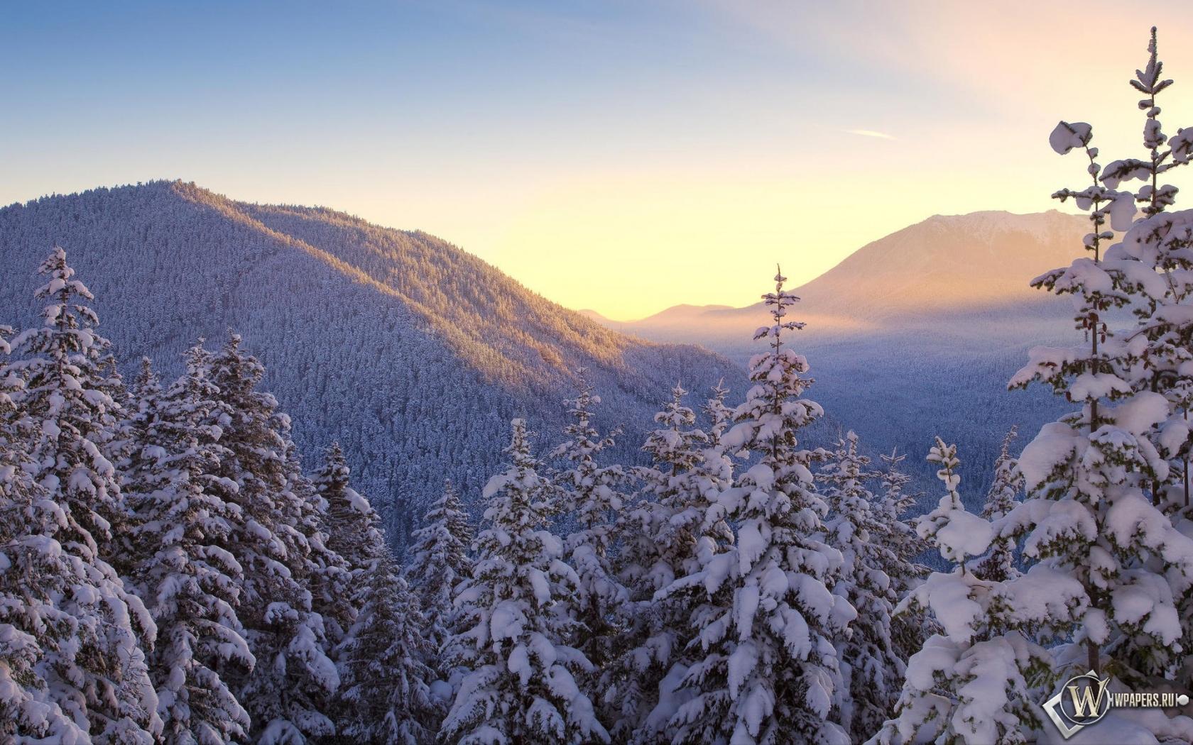 Обои зимние горы зима горы снег