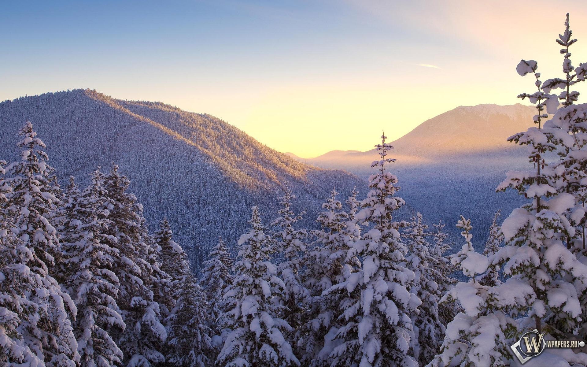 Зимние горы 1920x1200