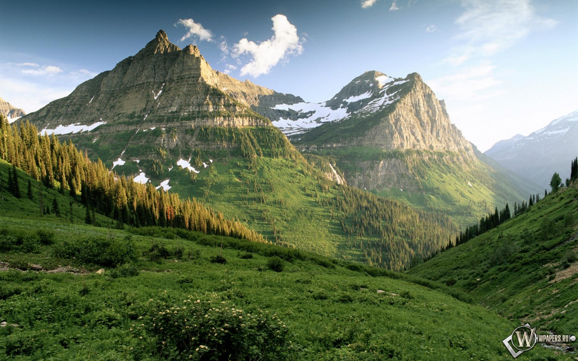 Горы холмы небо 1920x1200 картинки