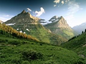 Обои Горы: Облака, Горы, Холмы, Небо, Горы
