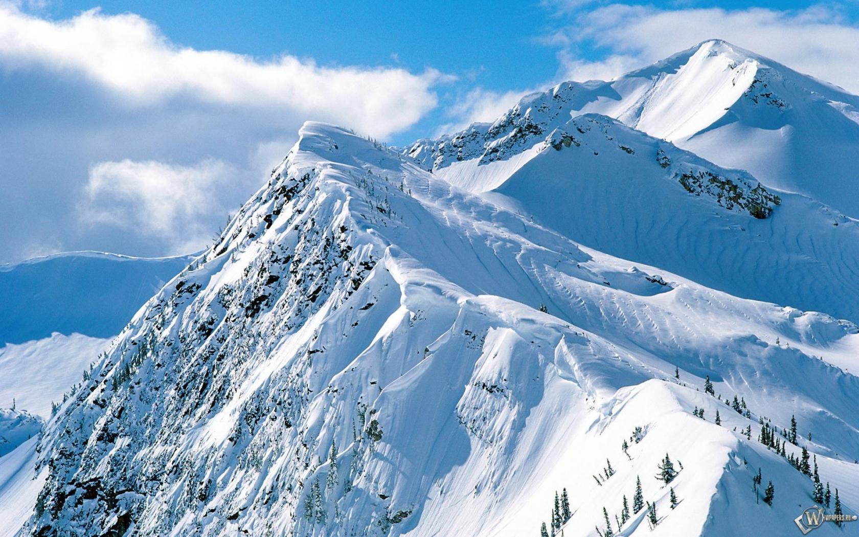 Обои снежные горы на рабочий стол с