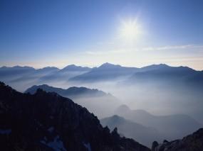 Обои Горы и солнце: , Горы