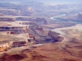 Обои Canyonlands National Park: Река, Юта, Каньон, Горы