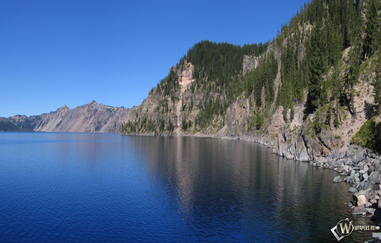 Обои горное озеро горы озеро 1600x1024