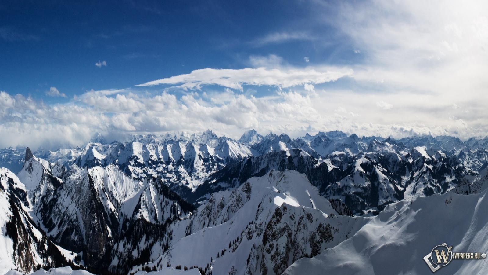 Обои альпы горы снег альпы небо