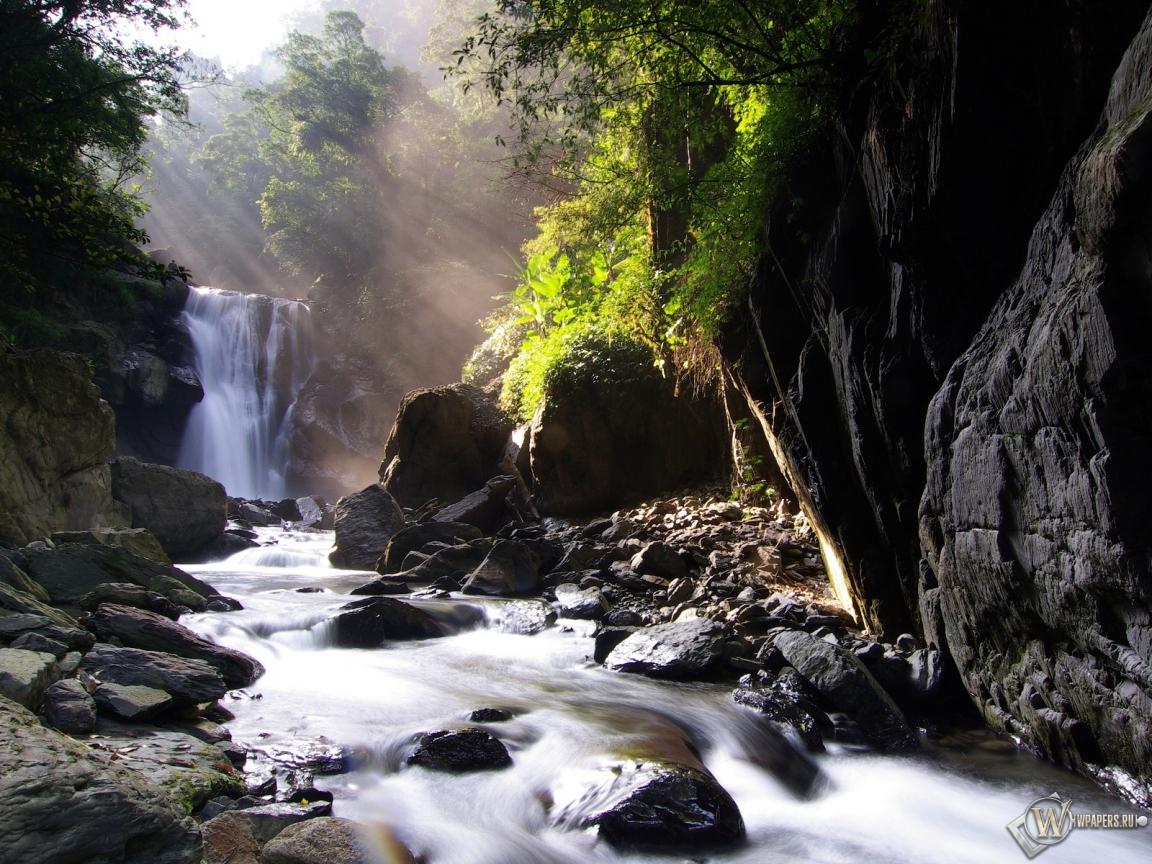 Waterfall природа обоев 159 водопад обоев