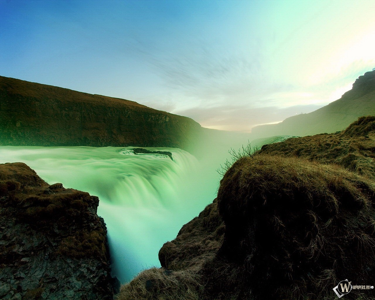 Лазурный водопад 1280x1024