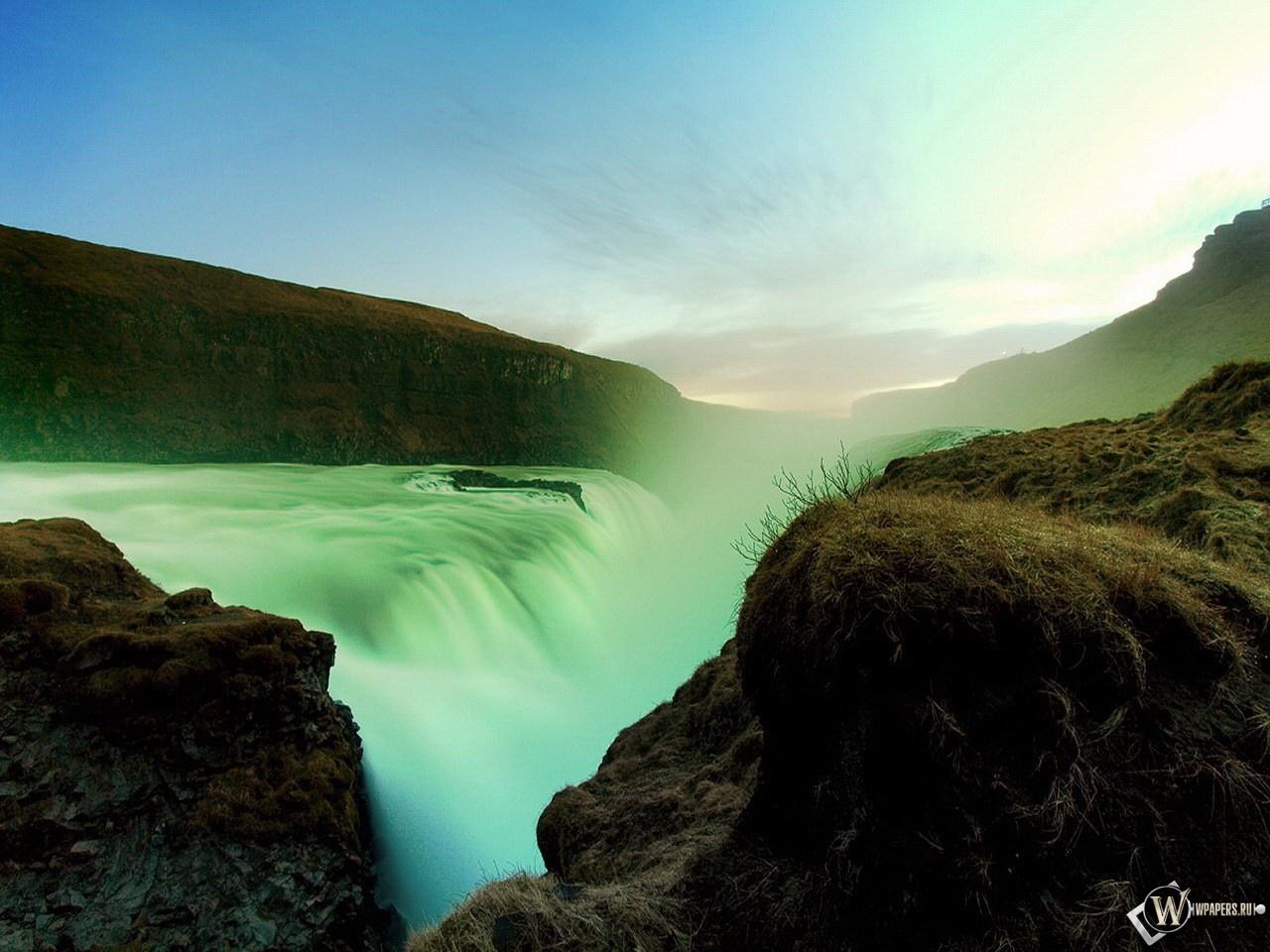 Обои на рабочий стол водопады 1024х768