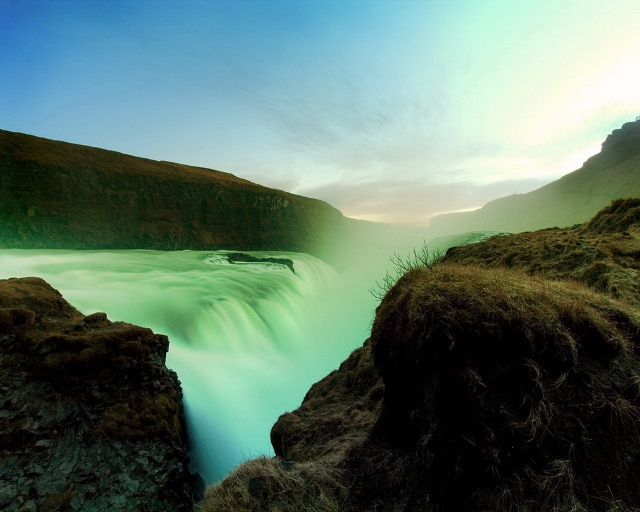 Лазурный водопад