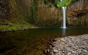 Обои Водопад: Река, Камни, Водопад, Водопады