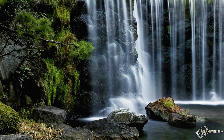 Обои водопад камни водопад поток