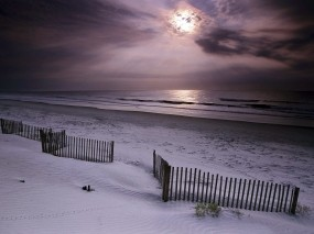 Обои Зимнее море: Зима, Песок, Море, Небо, Зима