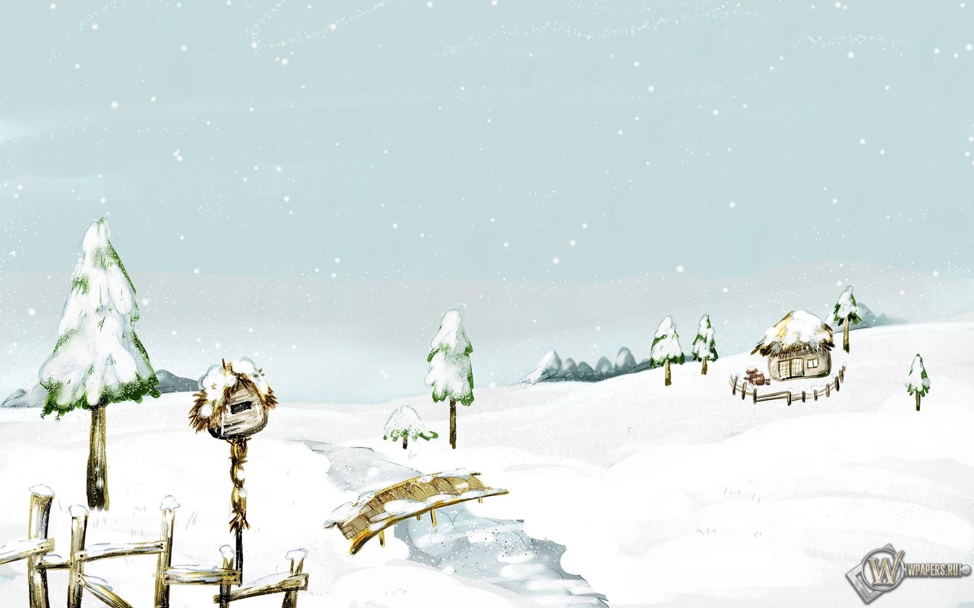 Beautiful Snow Scenery 1920x1200