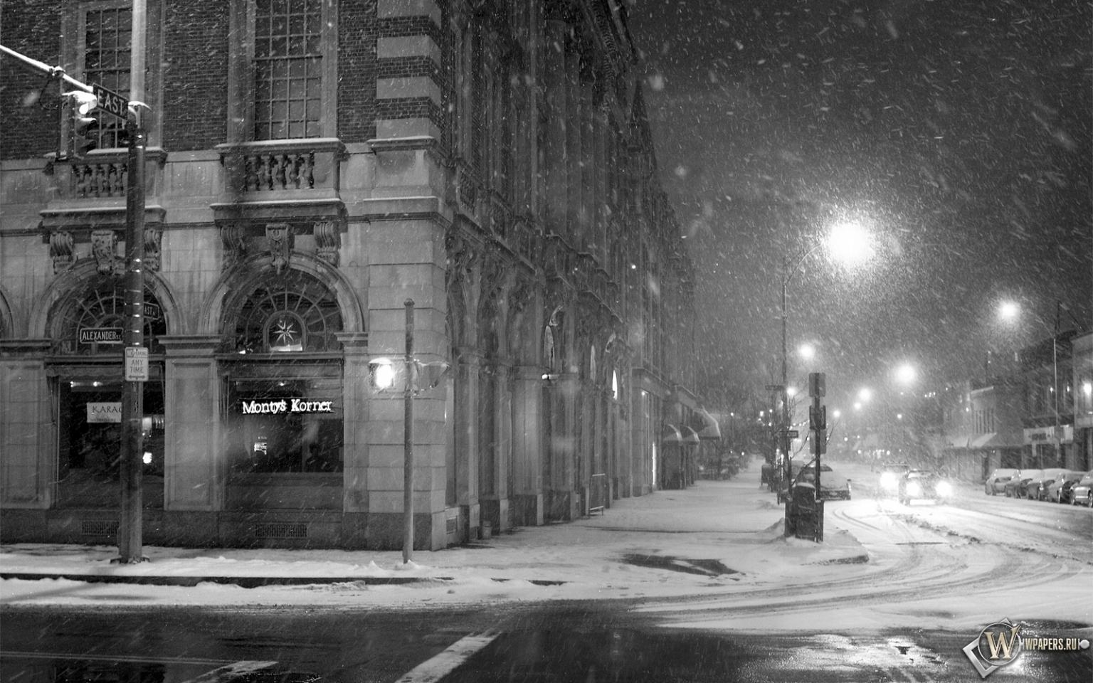 Черно белая зима 15 фотография