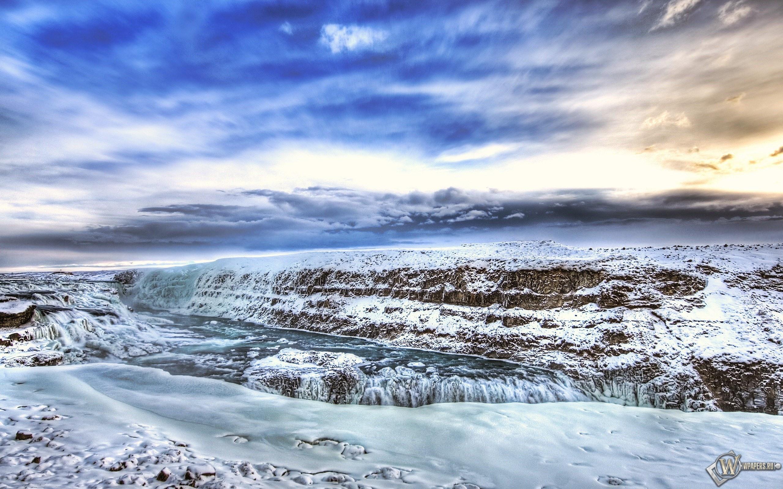 Ледяная река 2560x1600
