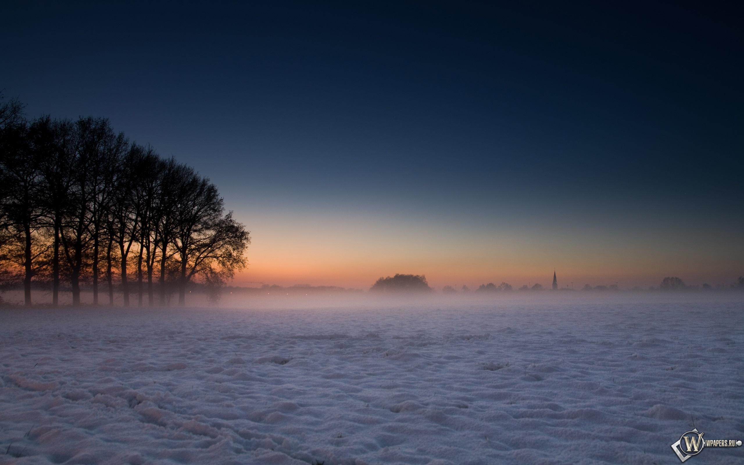 Зима в Дании 2560x1600