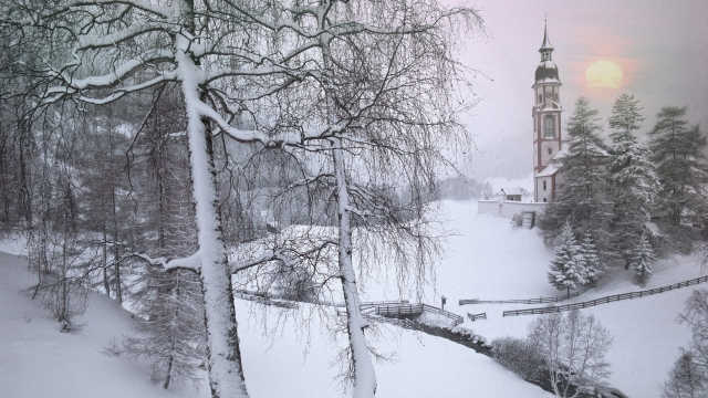Зима в Тироле Австрия