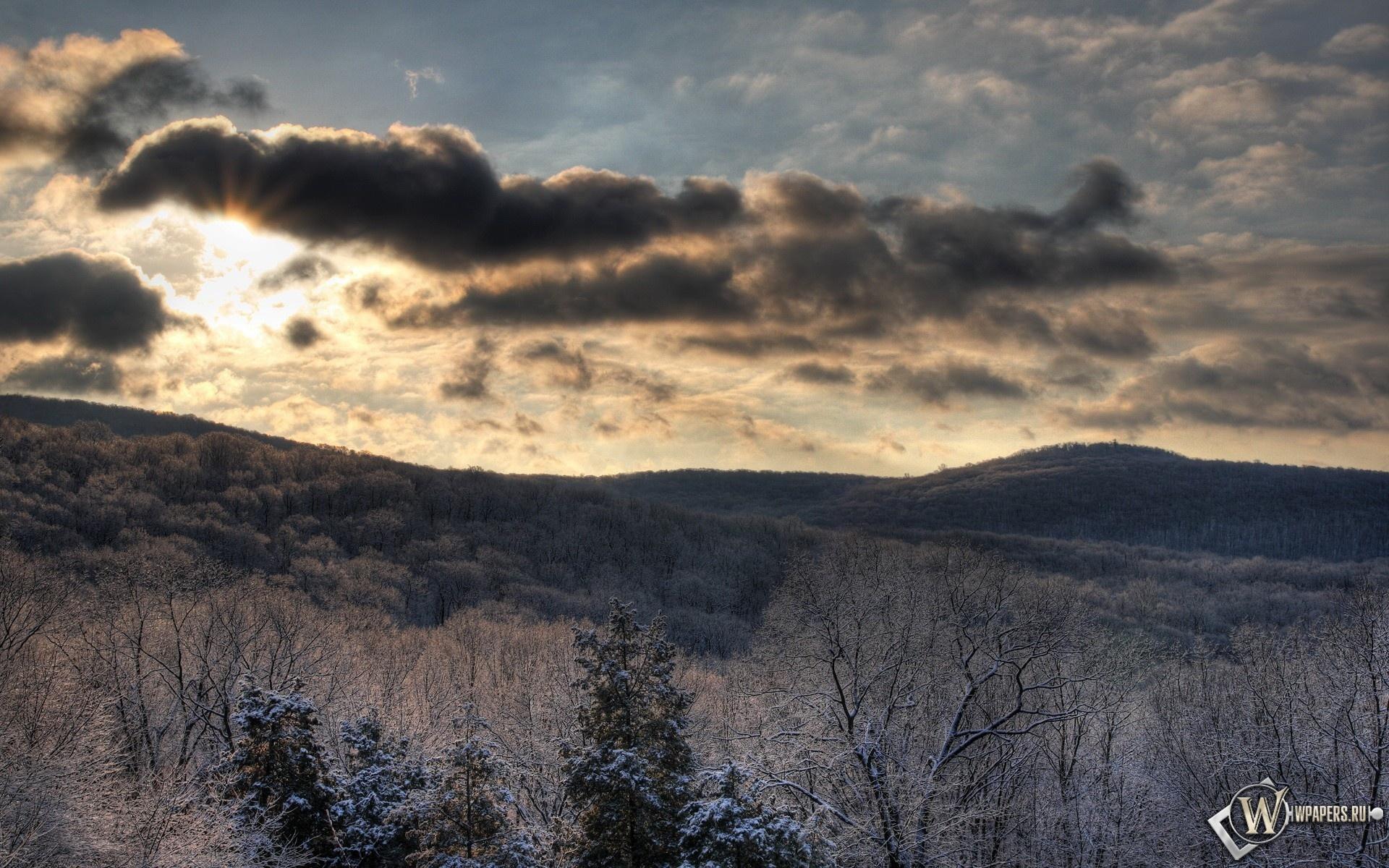Зима в горах 1920x1200
