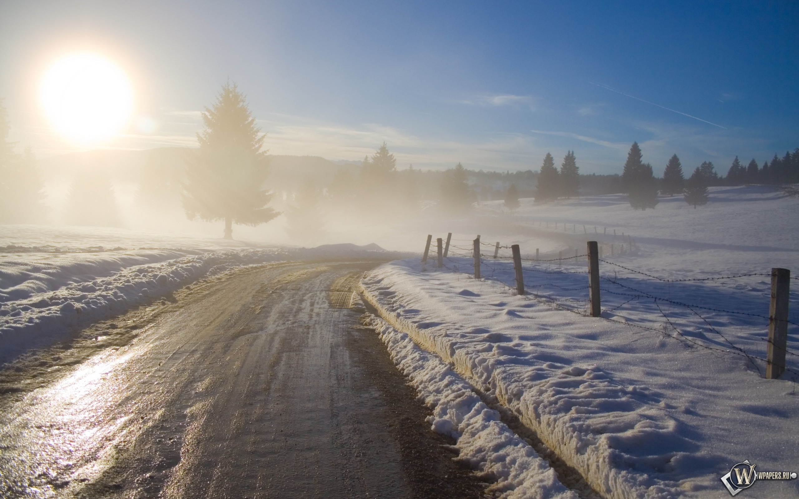 Зимний рассвет 2560x1600