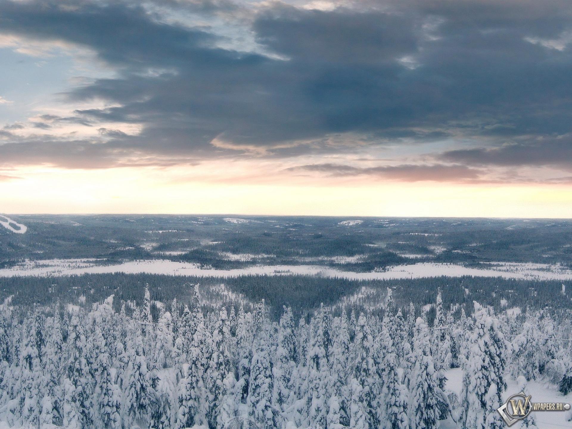 Скачать обои Зимние облака (Облака, Зима, Снег, Лес, Деревья) для ...