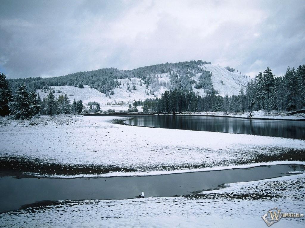 Зимняя речка 1024x768