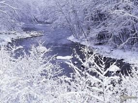 Обои Проток зимней речк и: , Зима