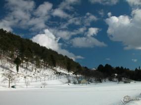 Обои Зимний склон: , Зима