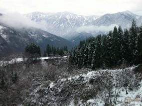 Обои Зимние горы: , Горы