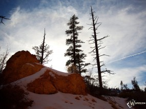 Обои Заснеженная гора: Облака, Зима, Снег, Глина, Зима