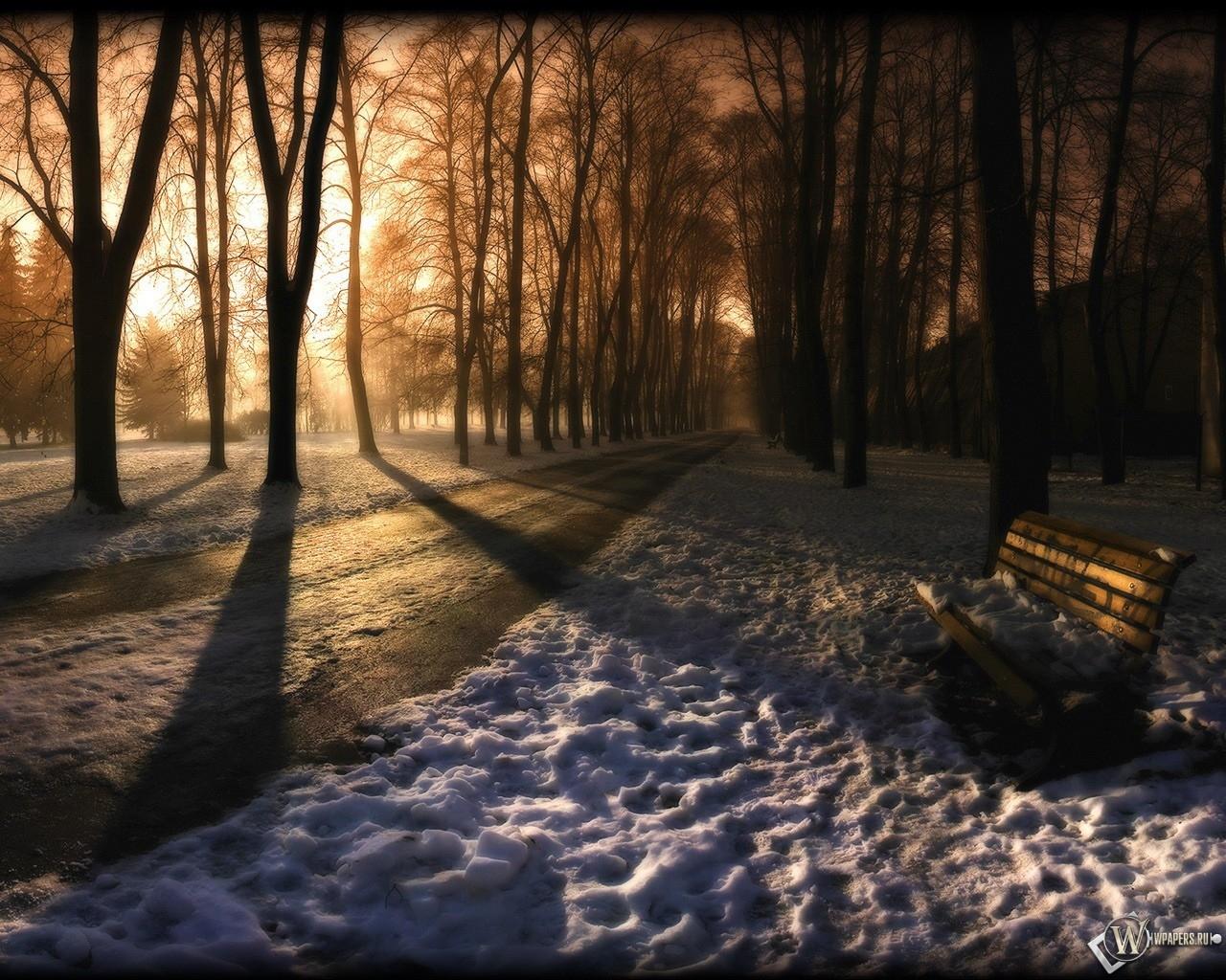 Зимний парк 1280x1024
