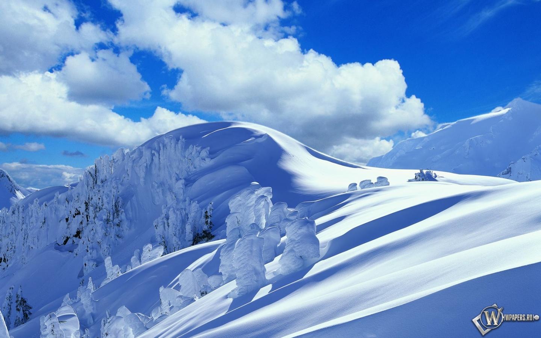 Обои зимние горы облака зима горы