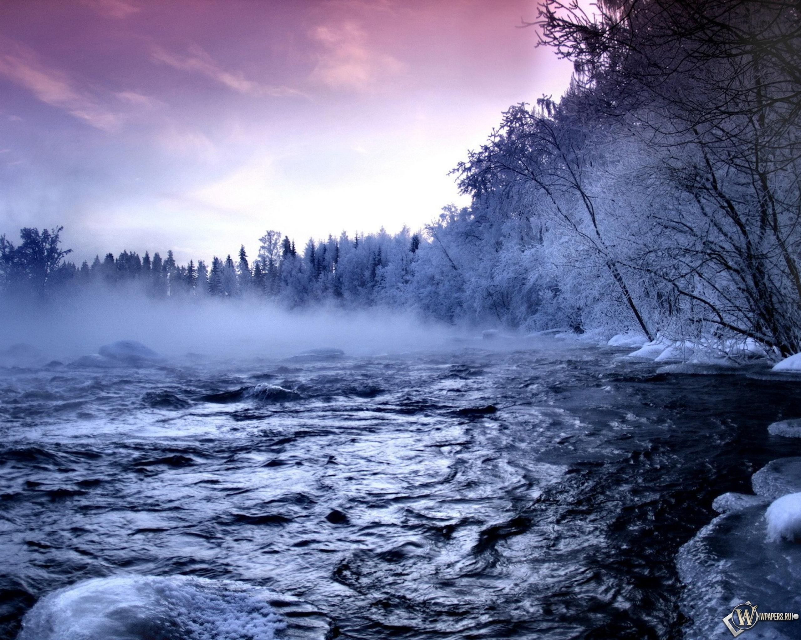 Зимняя речка 2560x2048