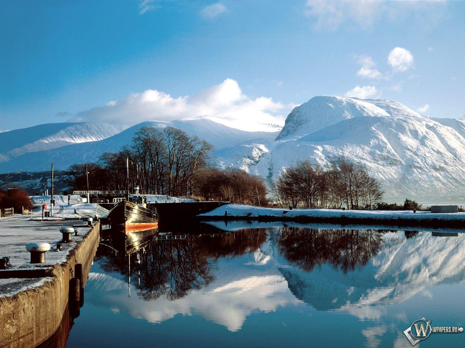 Зимнее озеро 1600x1200