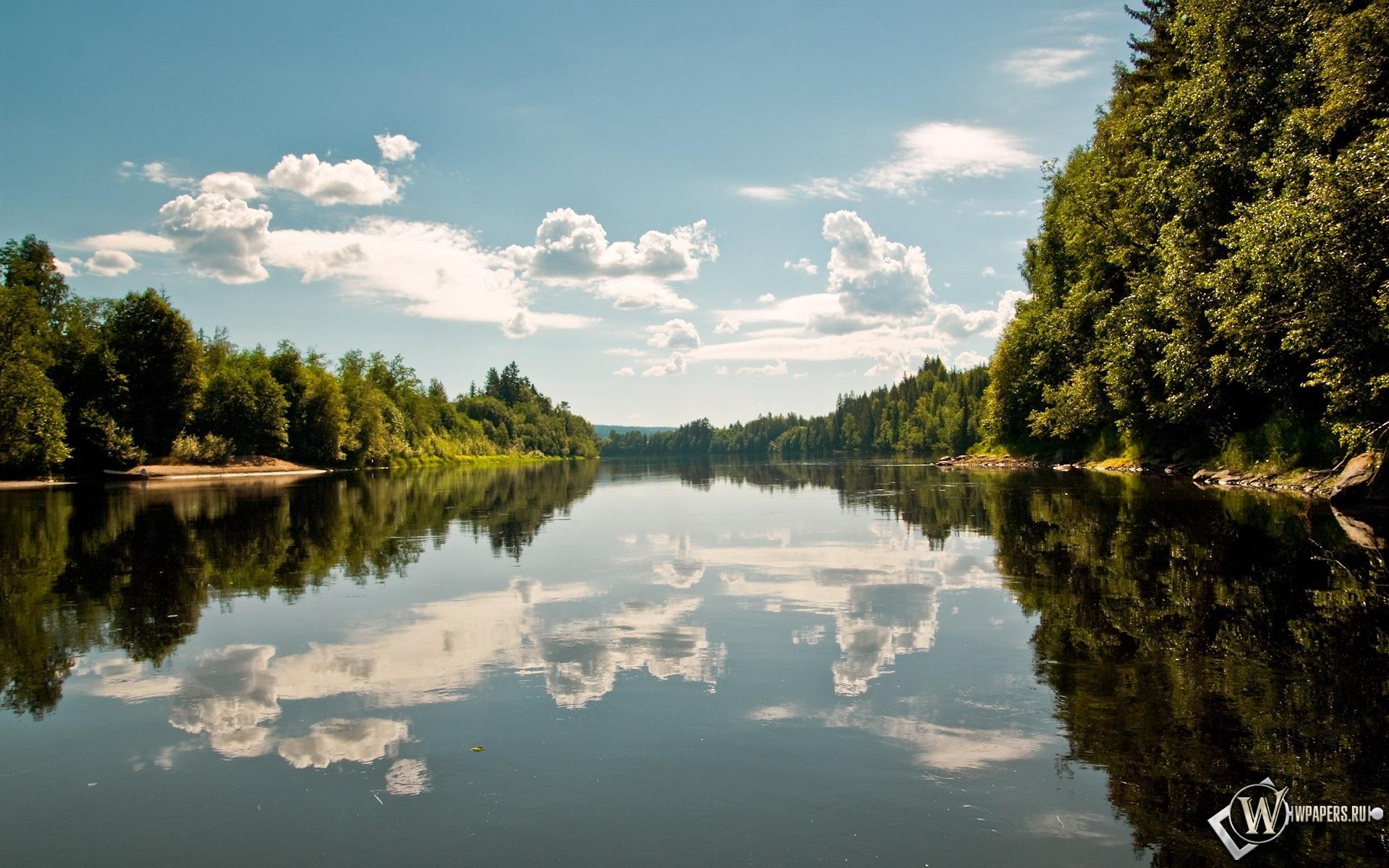 Отражение в реке 1920x1200