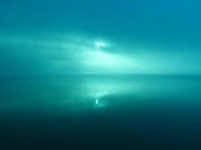Обои Пейзаж в голубых тонах: Отражение, Вода, Солнце, Вода и небо