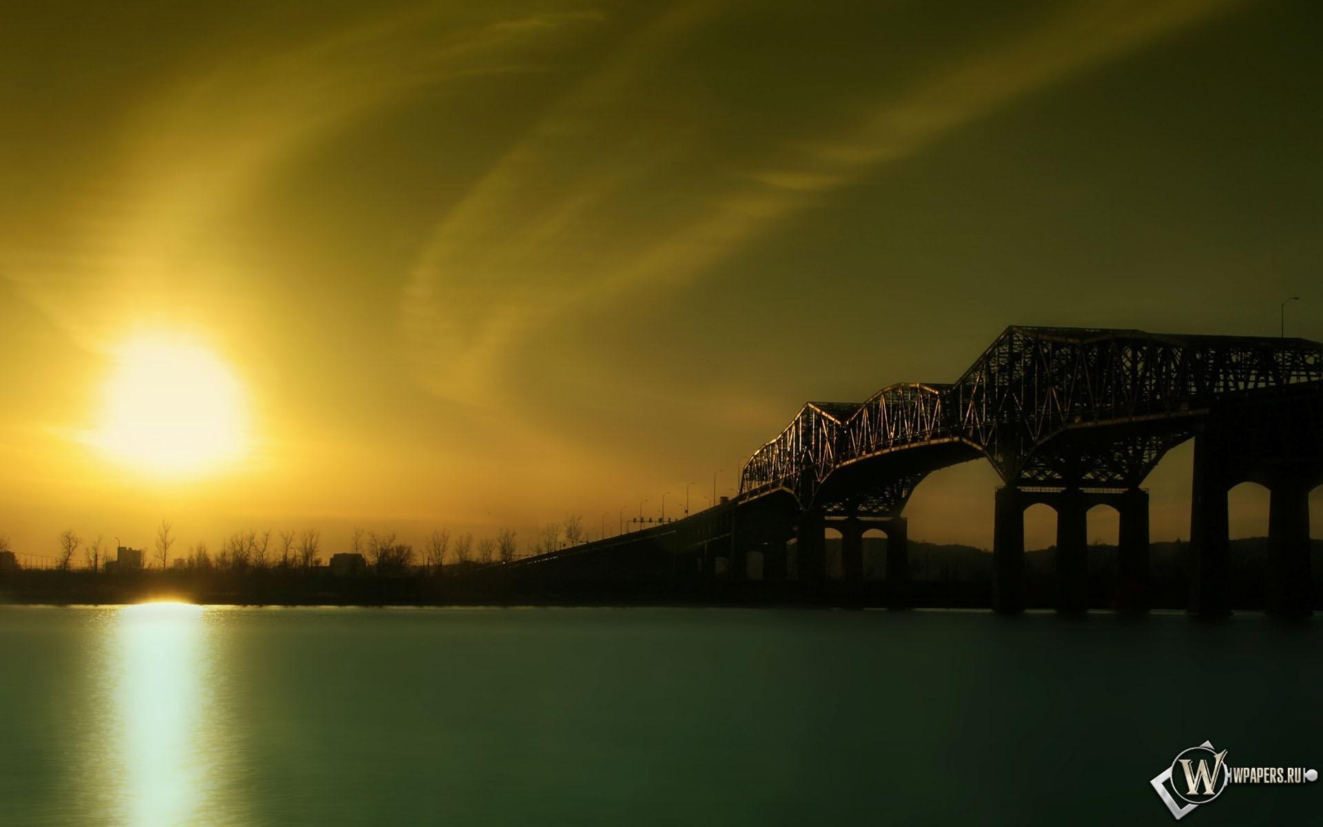 Восход над рекой 1920x1200