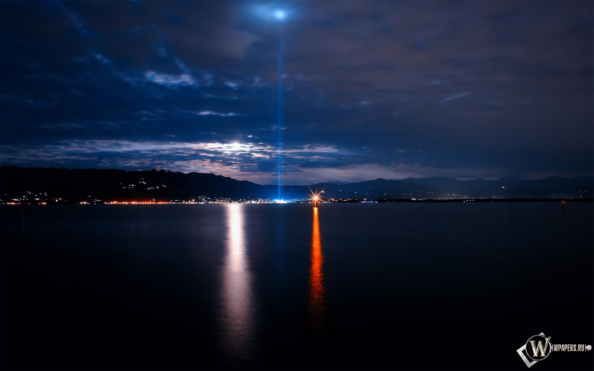 Ночное море 1920x1200
