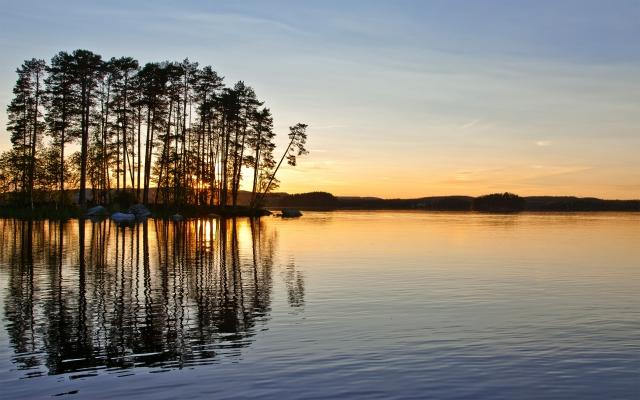 Закат в Швеции