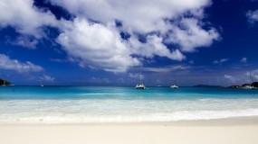Обои Океан под облаками: Песок, Океан, Небо, Вода и небо